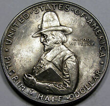 1920 Pilgrim Commemorative Half Dollar Gem BU MS++... Flashy with ANTIQUE Tone!!