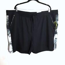 Tek Gear 3XL Multi Purpose Workout Athletic Shorts Plus Size Black Moisture Wick