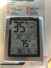 Indoor Digital Thermometer Humidity Monitor Temperature Tabletop/Wall Mountable