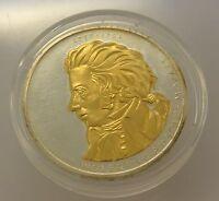 10 Euro Silber Gedenkmünze aus Deutschland / Mozart / Silber und Teilvergoldet