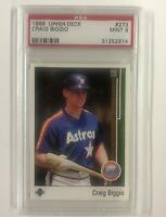 1989 Upper Deck #273 Craig Biggio PSA Mint 9; Houston Astros