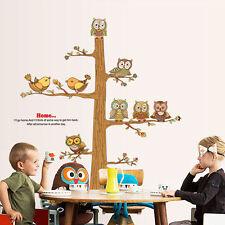 Premium Wandtattoo Wandaufkleber Wand Sticker Eule Vögel dekorativ Kinderzimmer