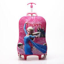 Girls Frozen 3D Carry-on Luggage Children Bag Pink 302-AU