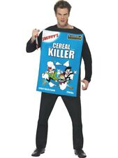 CEREAL KILLER HALLOWEEN NOVELTY MENS FANCY DRESS COSTUME FUN HALLOWEEN OUTFIT