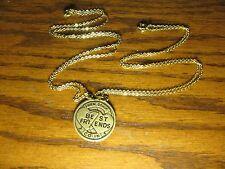 """2 Piece Antique Gold Look Best Friends Charm Pendant Necklace 18"""""""