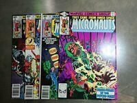 The Micronauts 4 book lot #14,15,16,17 (1980) Marvel Comics Higher grades