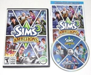 The Sims 3 Ambitions PC Game Complete 2010 Expansion