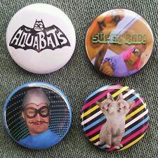 """4 1"""" The Aquabats Ska Super Rad pinback badges buttons"""