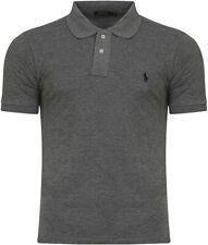2020 Men's Ralph Lauren Short Sleeve TShirt Custom Fit Grey UK NEW