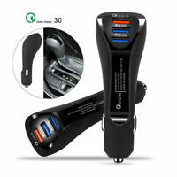 3-Port USB Car Charger Adapter QC 3.0 Quick Fast Charging For iPhone Samsung Dw
