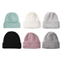 Chapeaux d'hiver de couleur solide pour les femmes à tricoter bonnet Cashmere