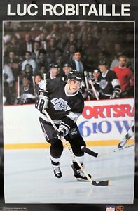 Vintage 1988 LUC ROBITAILLE Hockey 34 X 22 L.A.Kings NHL Starline Poster RARE