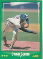 FREE SHIPPING-MINT-1988 (METS) Score #350 Dwight Gooden-2