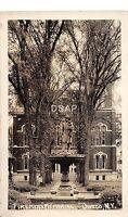 A23/ NEW YORK NY Real Photo RPPC Postcard c1910 OWEGA Firemens Memorial Fountain