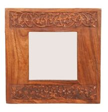 Hand-Carved Free-Standing Mini Wooden Mirror from India Fair Trade Gifts