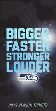 2013 Seattle Seahawks Season Ticket Stubs UNTORN - FULL SEASON -FREE SHIPPING!!