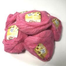 Vtg Katia Angoretta Knitting Yarn Faux Angora Acrylic Bubble Gum 7112 Bag of 10