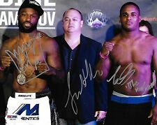 Lorenz Larkin King Mo Lawal & Scott Coker Signed 8x10 Photo PSA/DNA StrikeForce