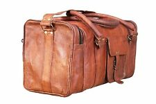 vintage Leather large Duffle 29'' Men's genuine travel gym weekend overnight bag