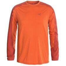 Arc'teryx Ether Comp Shirt UPF 50, Long Sleeve (For Men).Size:M.Orange.NWT.