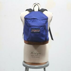 Vintage 90s Jansport Leather Backpack Pack Made in USA