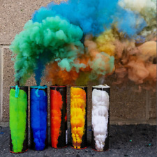 5 Colorful Effect Smoke Bombs Photography Wedding Photo Maternity Wick US SELLER