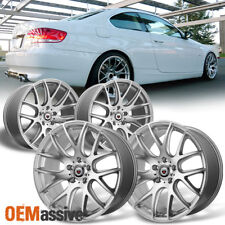 Fits BMW Staggered Concave 19x8.5 19x9.5 F & R CSL Style Silver Alloy Wheels