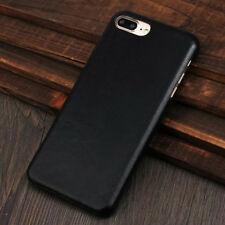 Retro Original Genuine Leather Slim Back Skin Case Cover For iPhone X 6 7 8 Plus