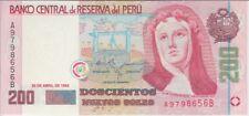 Peru Banknote P162 200 Soles 20.4.1995, UNC
