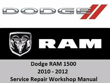 Dodge RAM 2010-2012 1500 Service Repair Workshop Manual CD 3.7 4.7 5.7 HEMI V8V6