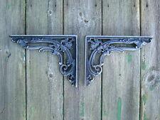 Antique Style Pair of Cast Iron Victorian, Floral, Vintage  Shelf  Brackets