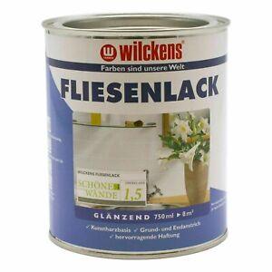 Fliesenlack Wilckens Fliesen Lack Fliesenfarbe weiß grau creme 750ml (11,32€/1l)