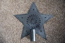 Primitive / Country Pressed Tin Christmas Tree Star