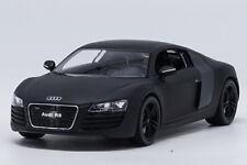 Welly 1:24 Audi R8 Matte Black Diecast Model Car New in Box