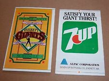 Everett Giants  schedule Minor League Ball 1980's