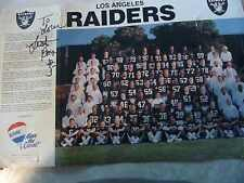 L A RAIDERS TEAM PICTURE WITH ALL THE NAMES LISTED BY ROW 17 X 11