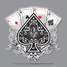 Ace of Spades Cards Pegatina Calcomanía Laptop PC iPad Patineta Poker-SKU2963