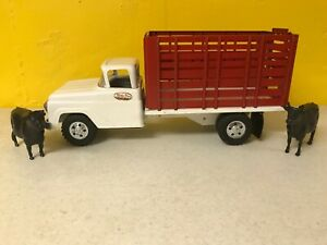 1958 Tonka High Rack Truck All Original Unplayed With Condition +1 Cow & 1 Bull