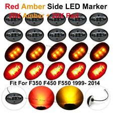 20X Red Amber Side Marker Fender Dually Bed Lights for Ford F250 F350 F450 99-14