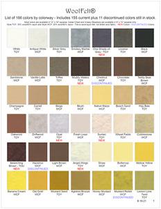 #1 Wool Felt® - 42 Colors - Wool/Rayon Felt - WoolFelt® from National Nonwovens