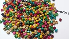 1000 WOOD WOODEN ROUND/RONDELLE BEADS SPACER BEADS JEWELLERY MAKING