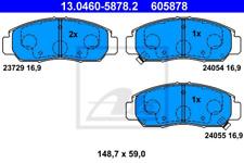 Bremsbelagsatz, Scheibenbremse für Bremsanlage Vorderachse ATE 13.0460-5878.2