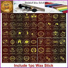 1pc of 180 Styles Custom Made NAME & DATE Invitation Wax Seal Stamp+1 Wax Stick