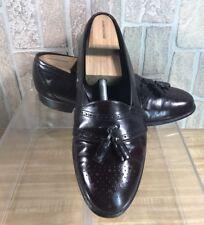 JOHNSTON MURPHY Burgundy Tassel Brogue Full Strap Slip On Loafer 11D Made In USA