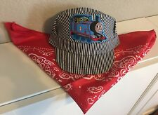 Engineer/Conductor Cap /Hat & Bandanna -THOMAS - adjustable -Child size -NEW