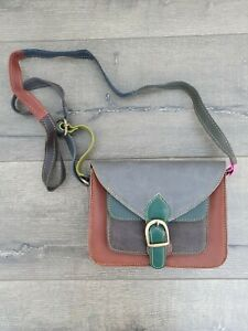 Gringo Fairtrade Small Grey/Brown/Green Recycled Bag - Marked