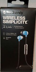 Skullcandy NOISE ISOLATING Jib Wireless Earbuds, Bluetooth Earphones - Lite BLUE
