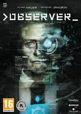 OBSERVER SPECIAL EDITION PC DVD & STEAM NEW SEALED ENGLISH ARTBOOK POSTER