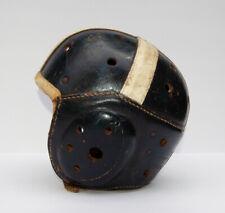 SWEET Old Antique Late 1930 WILSON F2207C Black Leather Football Helmet Vintage