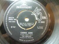 "The Hollies – Carrie Anne 1967 7"" Parlophone R 5602"